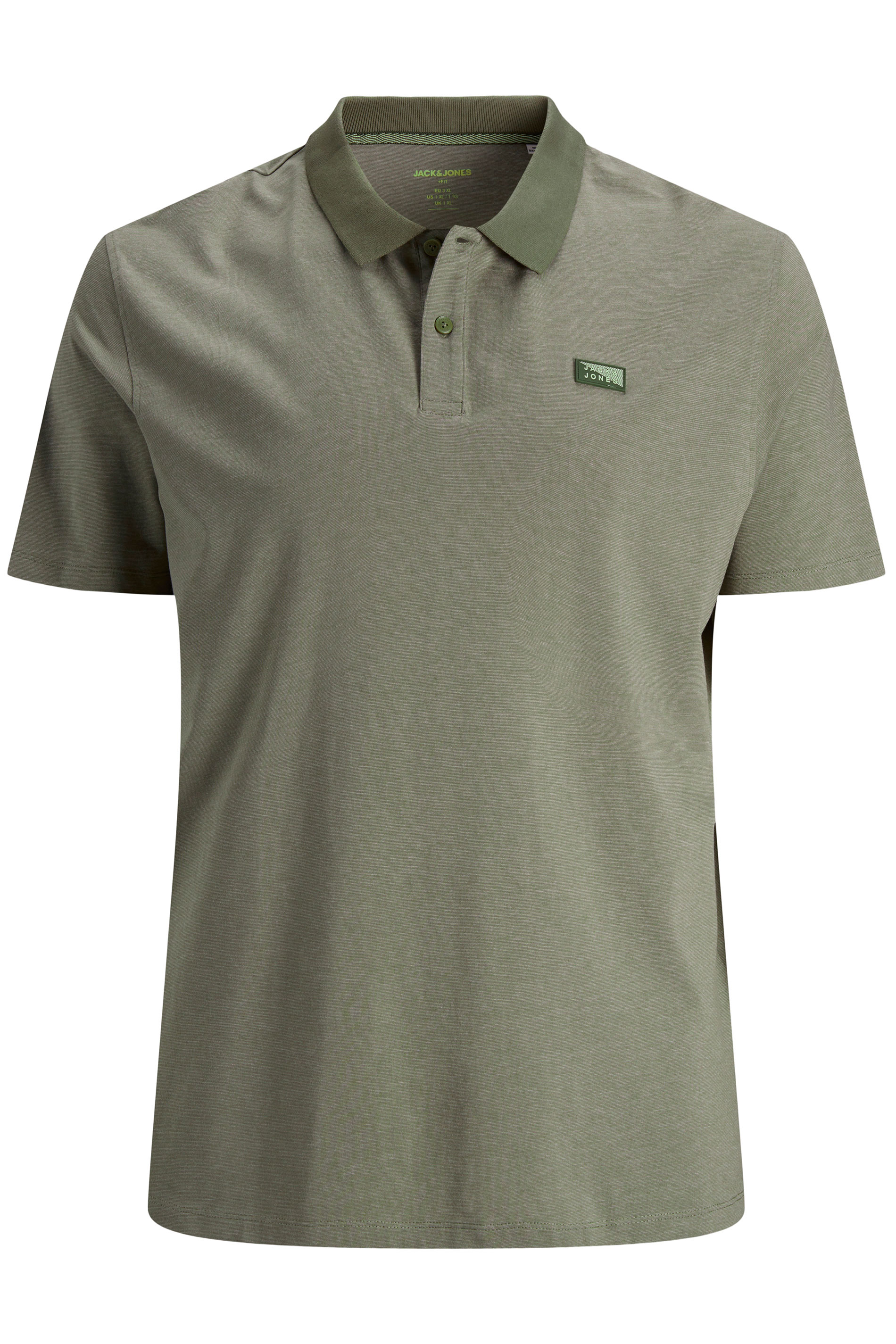 JACK & JONES Khaki Shultz Logo Polo Shirt