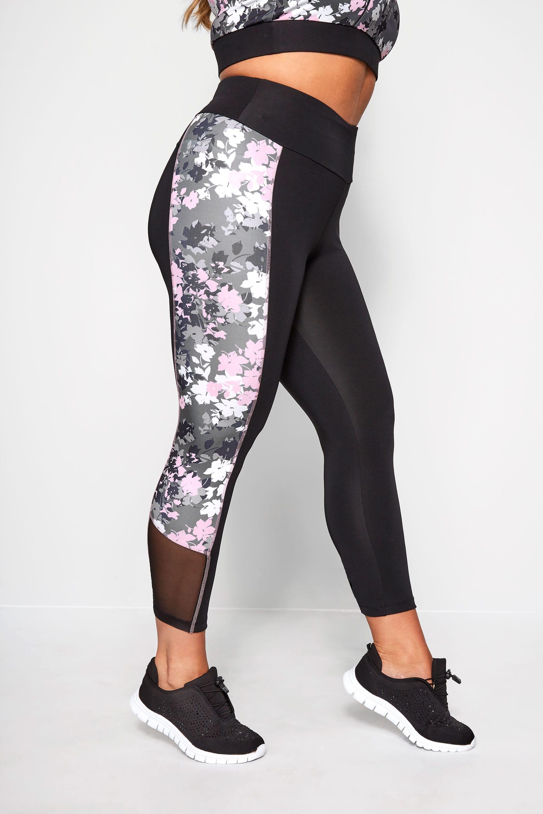 ACTIVE Black Floral Performance Leggings