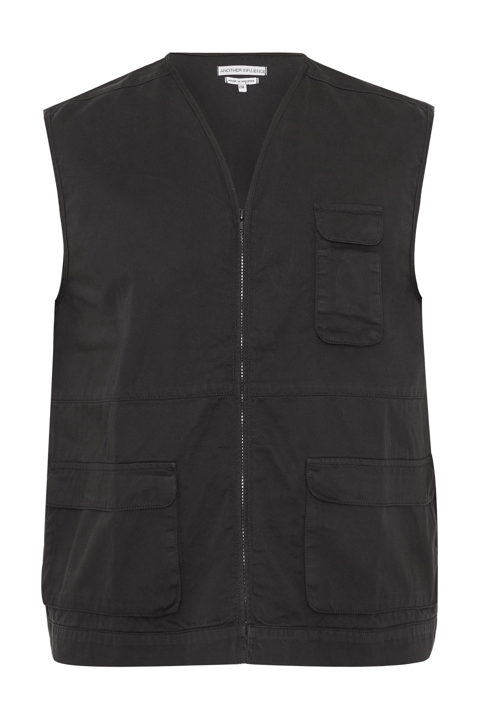 ANOTHER INFLUENCE Black Utility Vest
