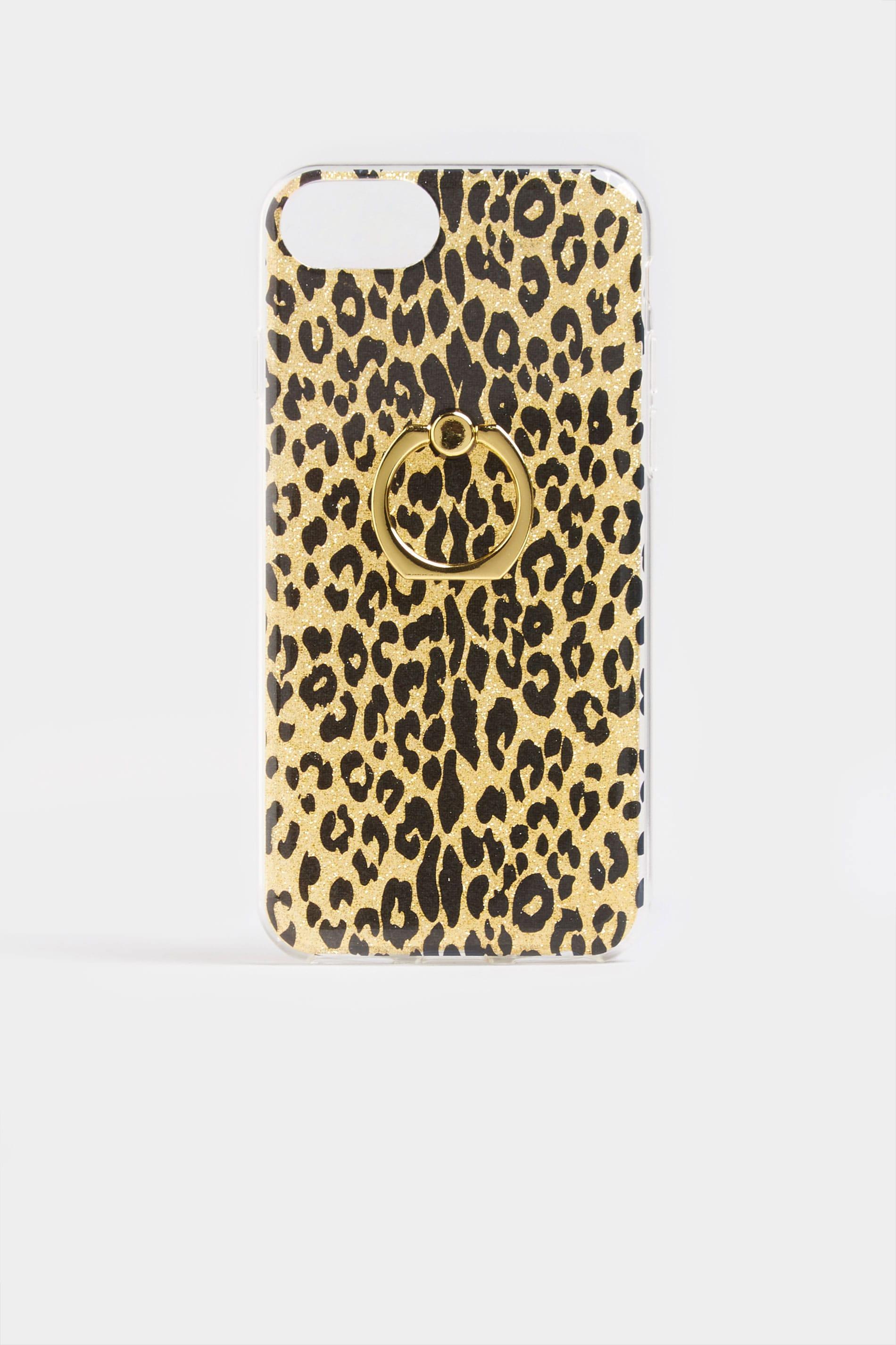 Animal Print Glitter Phone Case