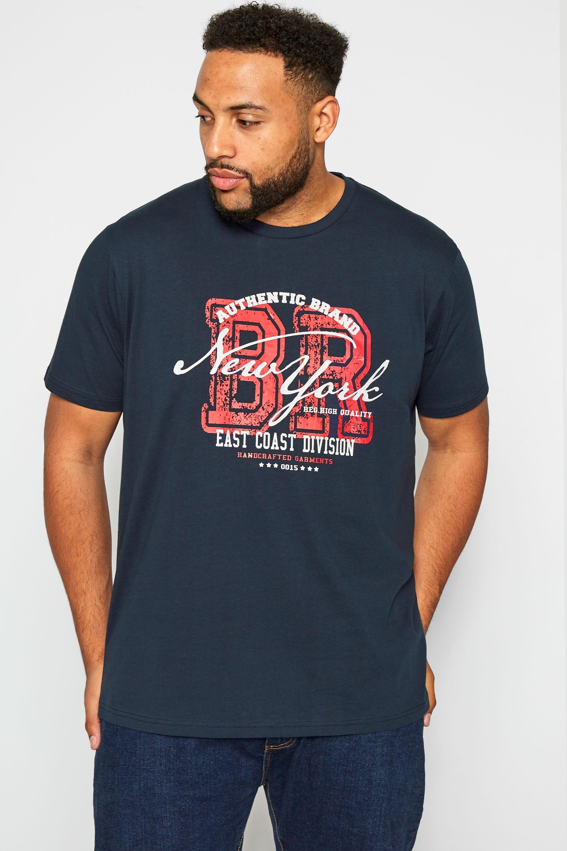 BadRhino Navy New York Graphic T-Shirt