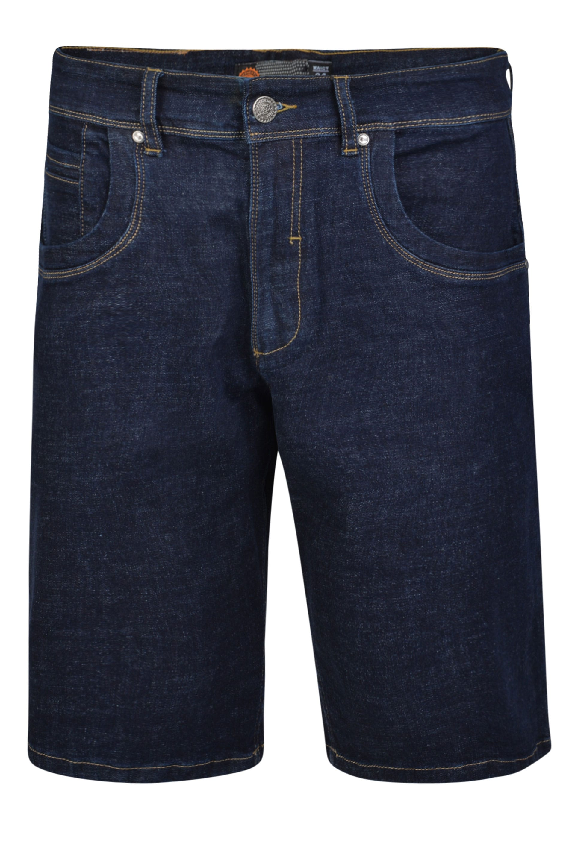 KAM Dark Blue Stretch Denim Shorts