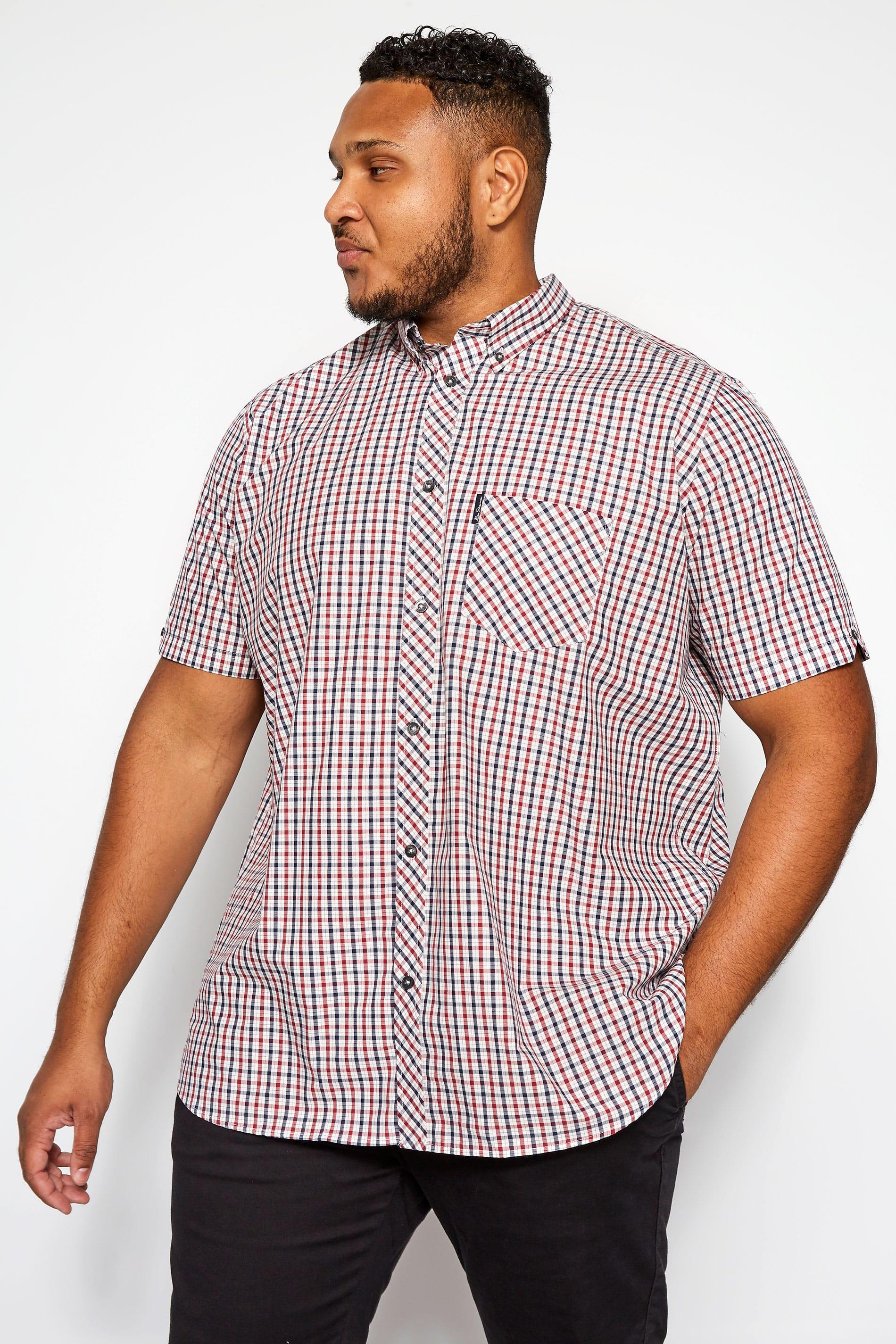 BEN SHERMAN Red & Blue House Check Shirt
