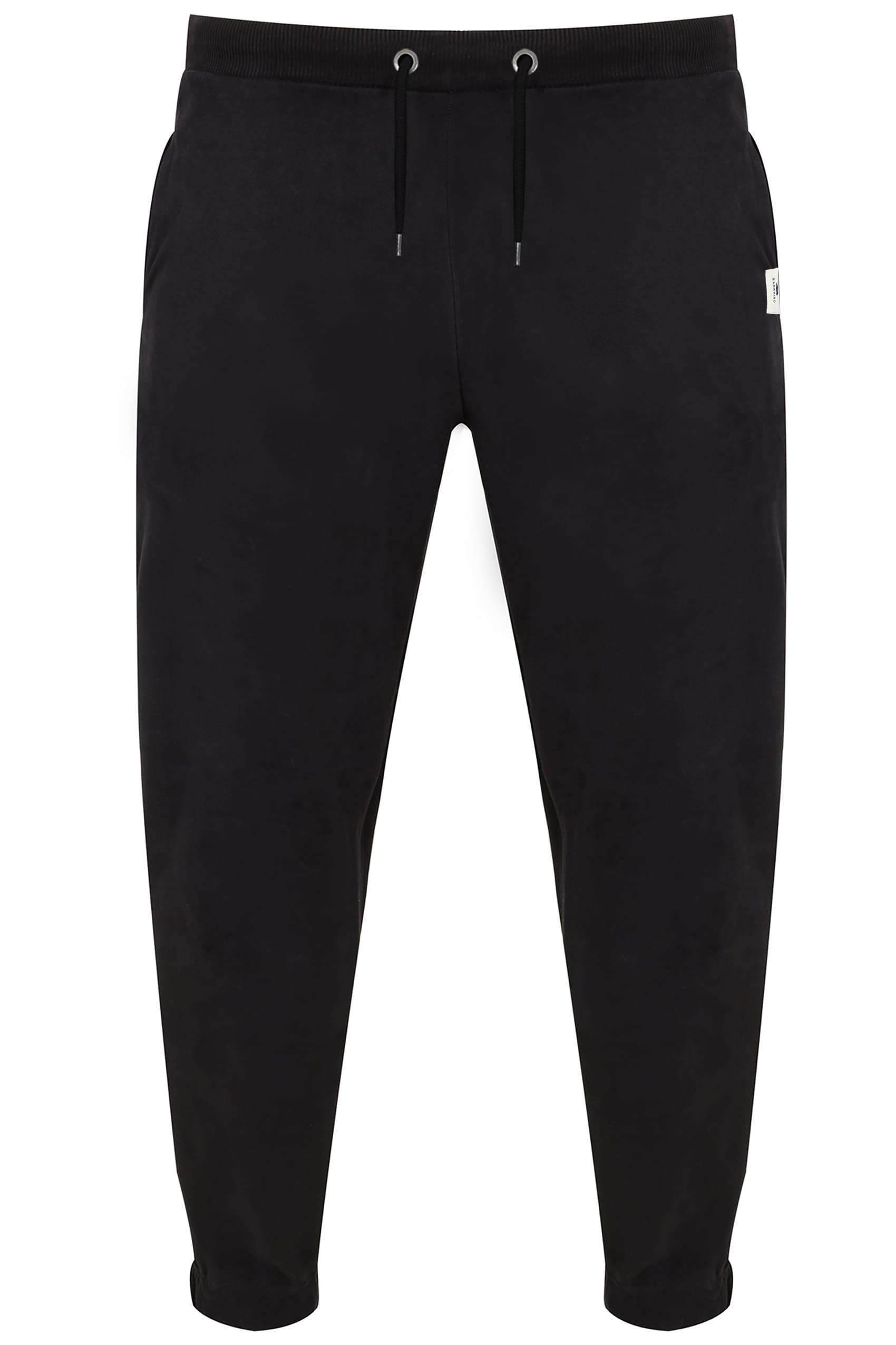 BadRhino Black Basic Sweat Joggers With Pockets