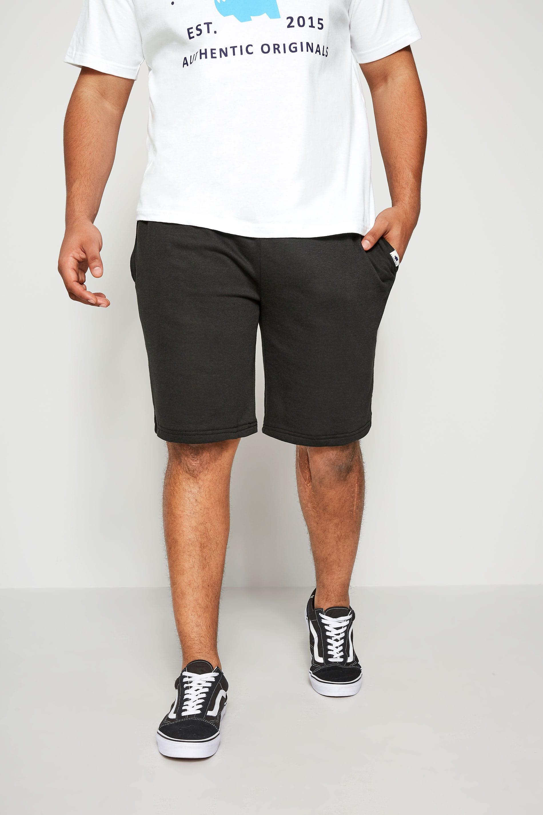 Badrhino Mens Basic Sweat Shorts With Pockets Extra Large Sizes L To 8xl