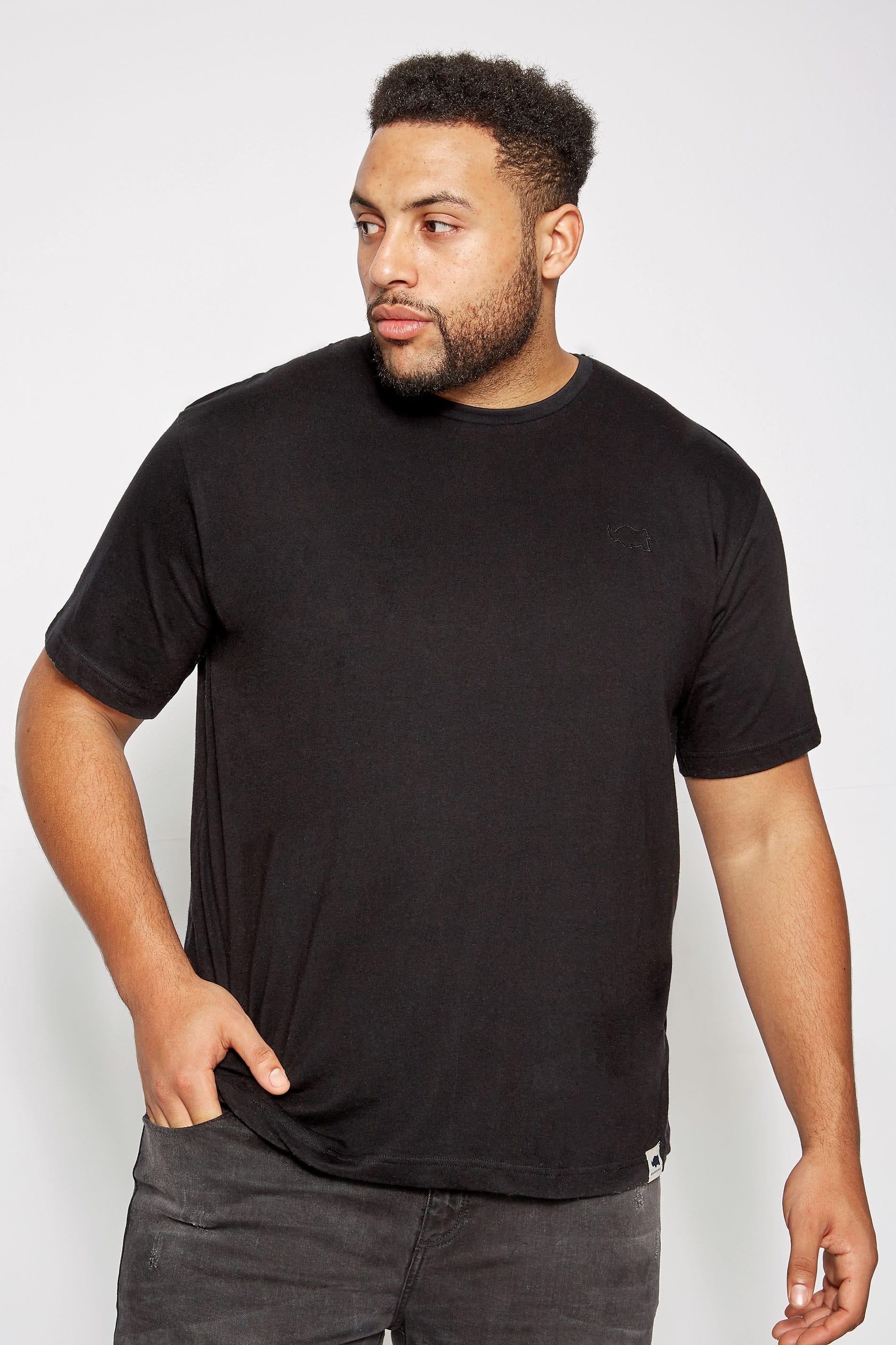 BadRhino Black Crew Neck Basic T-Shirt