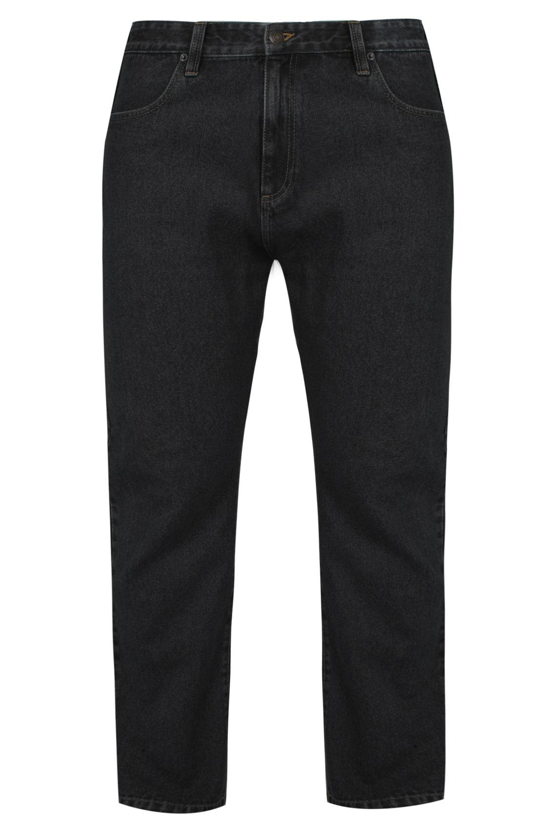 BadRhino Black Denim Stretch Straight Leg Jeans