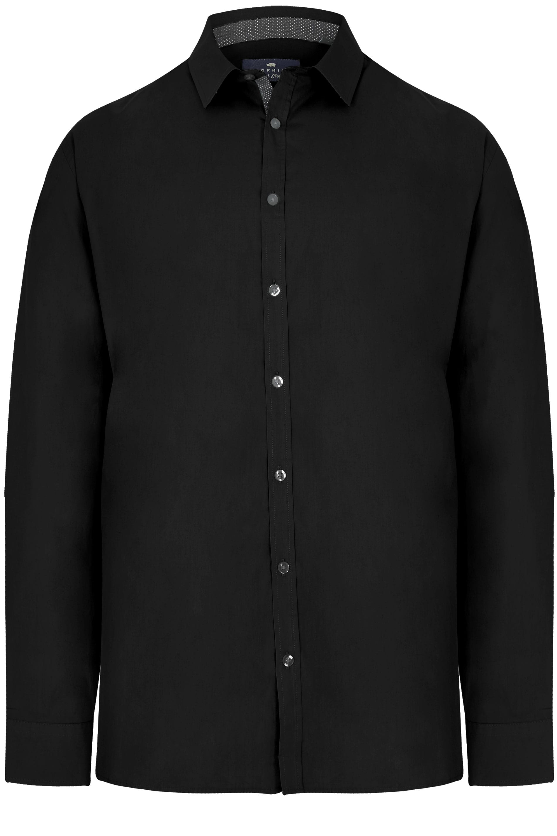 BadRhino Black Smart Patterned Trim Shirt