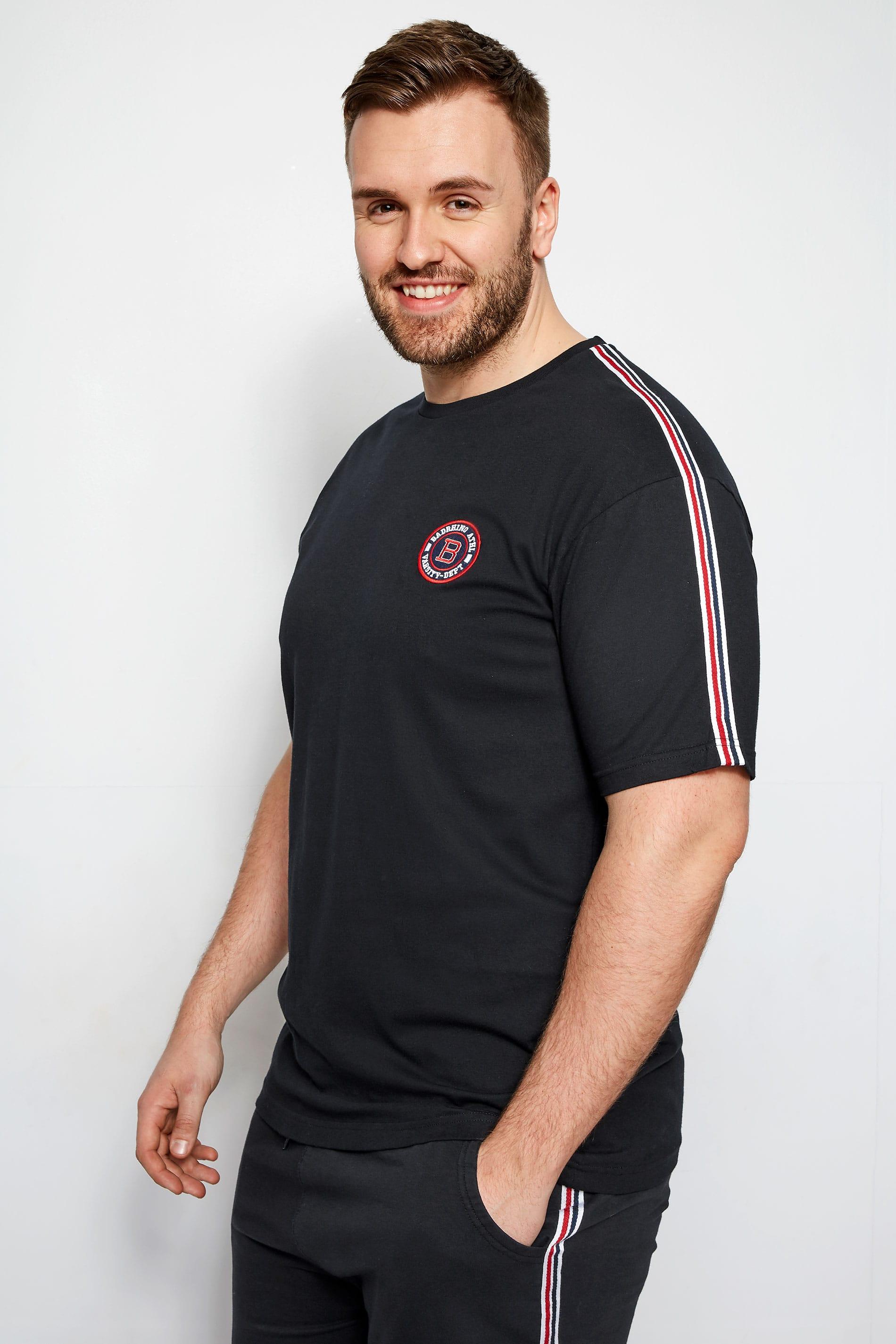 BadRhino Black Sports Tape T-Shirt