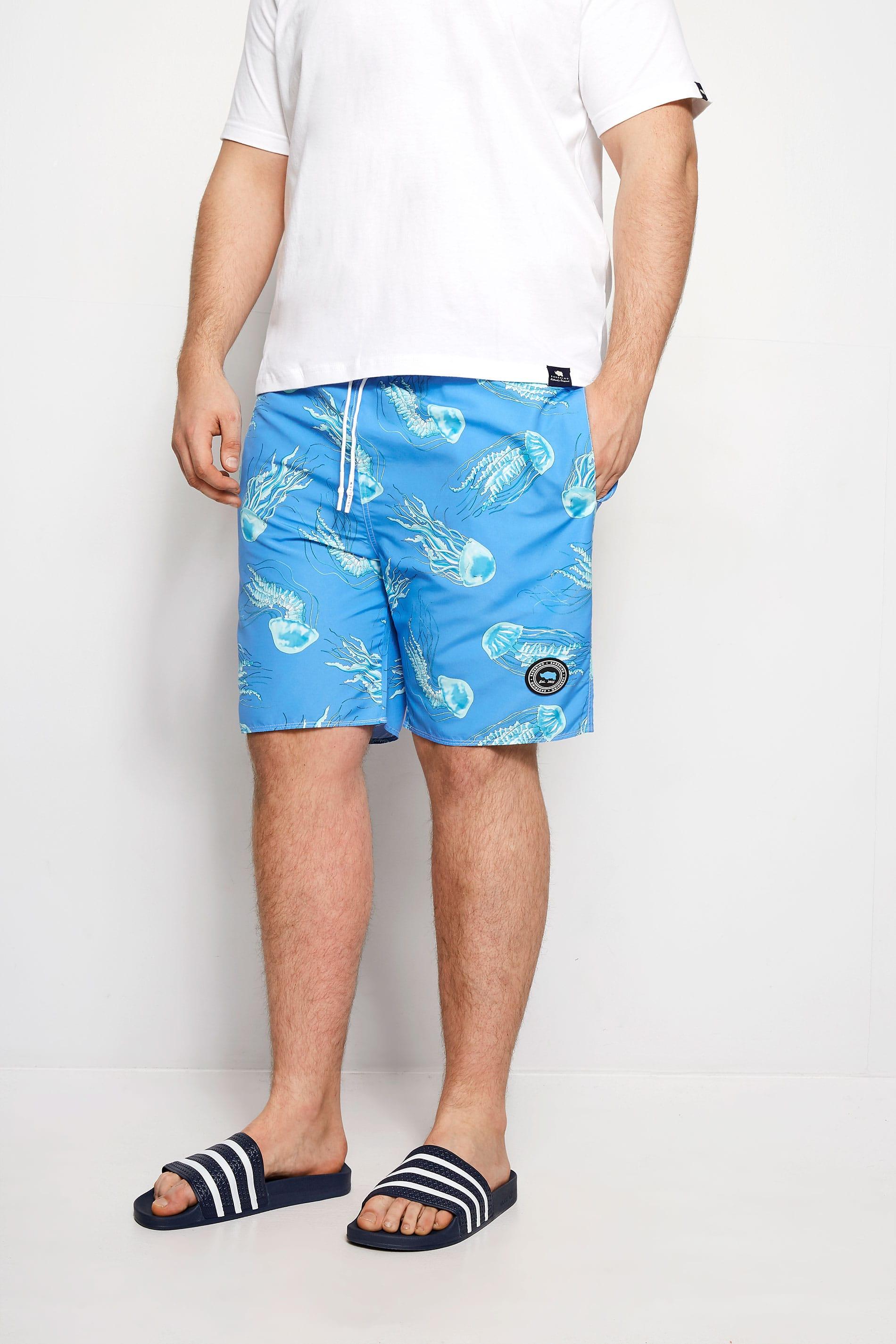 BadRhino Blue Jellyfish Swim Shorts