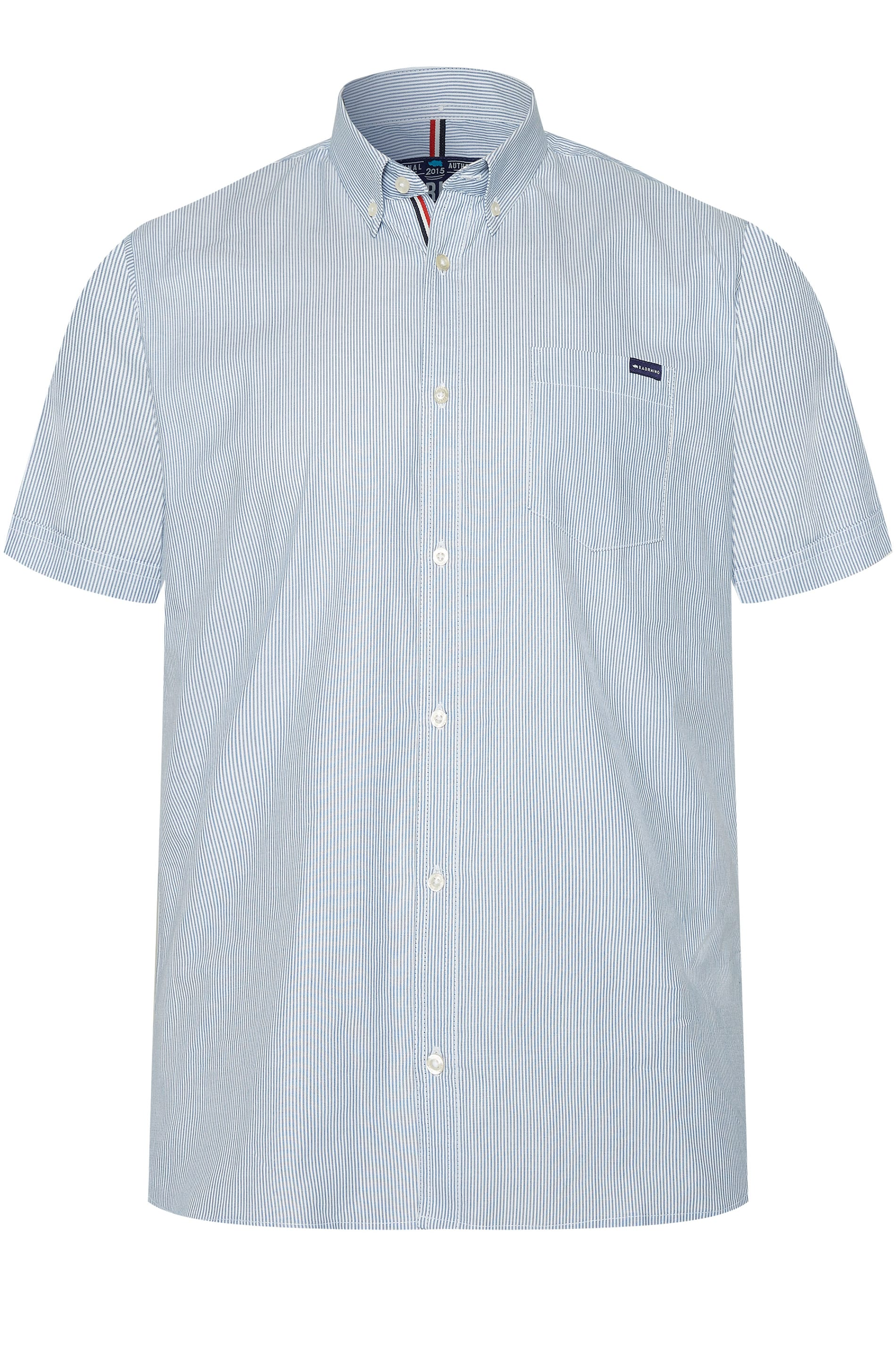BadRhino Blue Striped Oxford Shirt