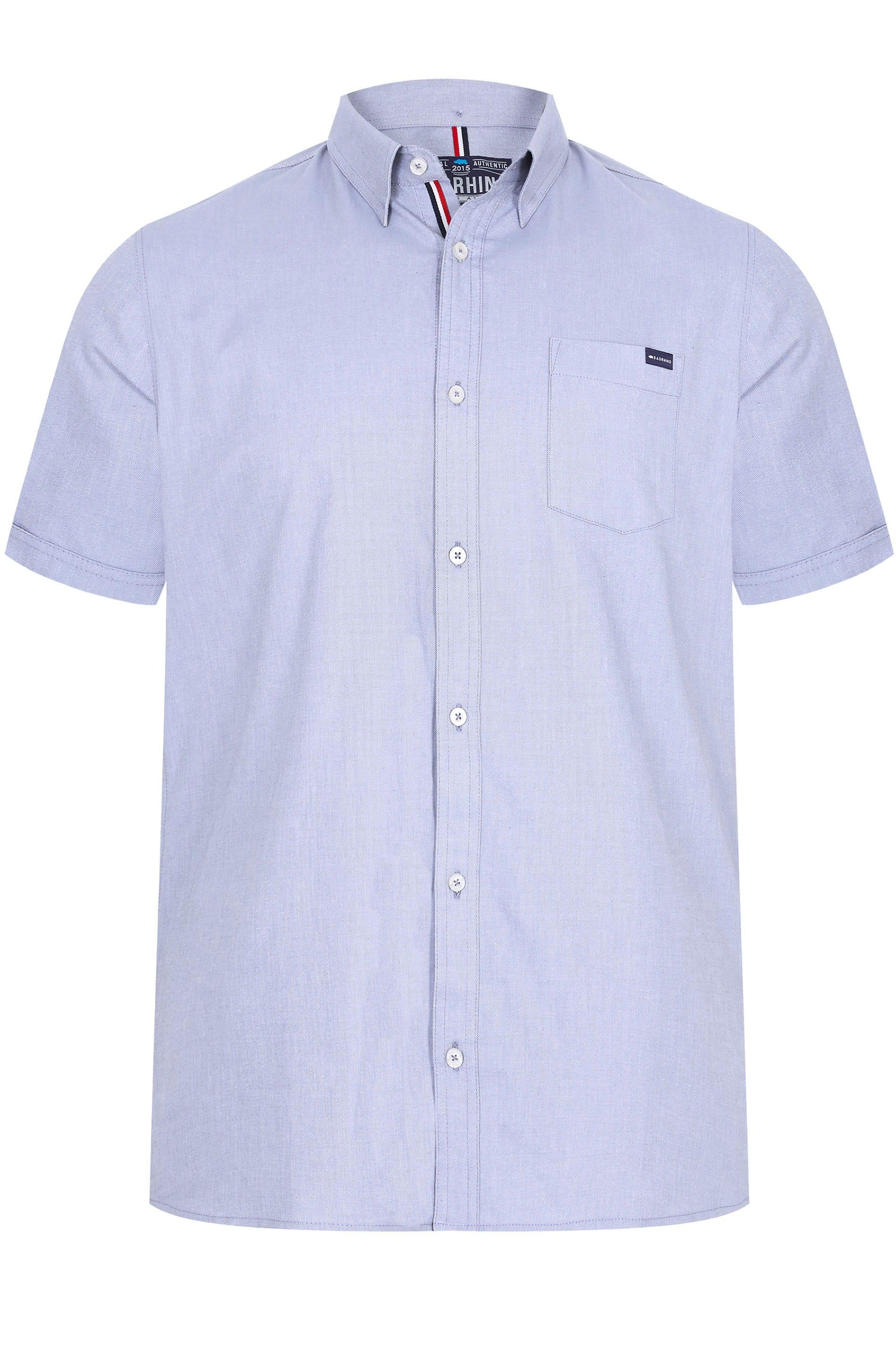 BadRhino Blue Linen Mix Shirt