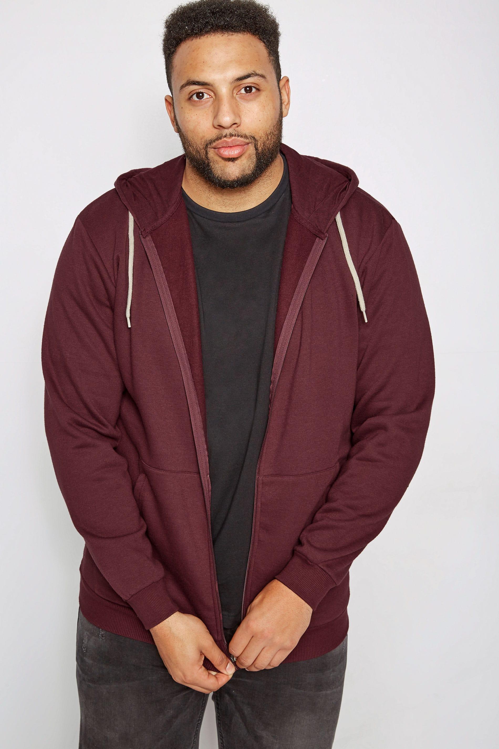 BadRhino Hoodie-Sweatshirt mit Taschen - Weinrot