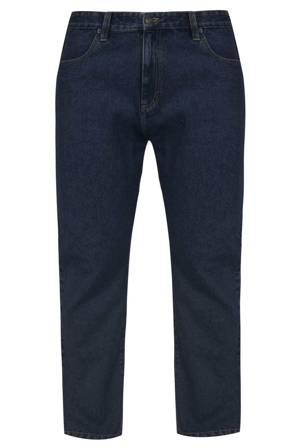 BadRhino Indigo Denim Straight Leg Stretch Jeans
