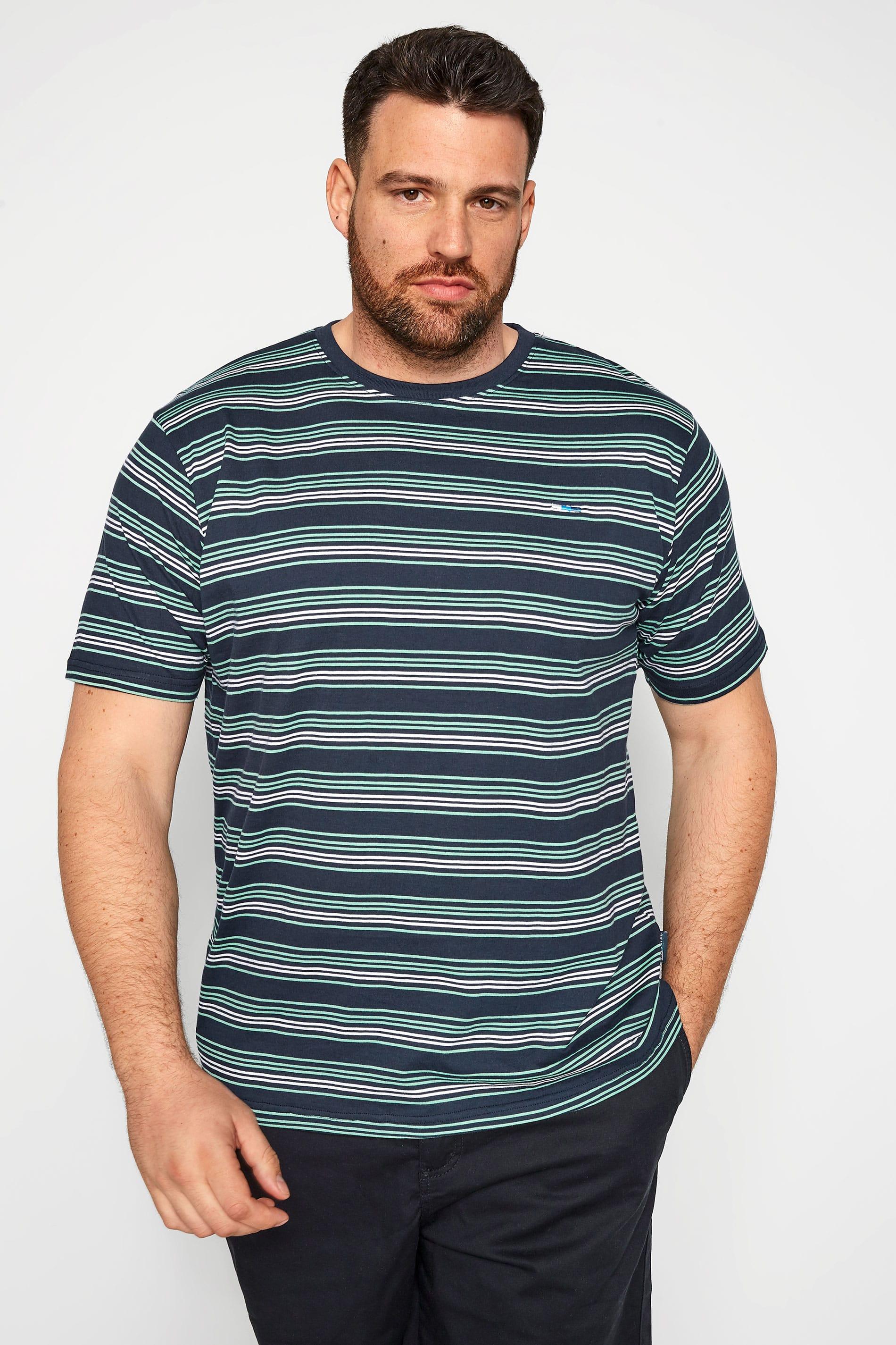 BadRhino Navy & Blue Stripe T-Shirt