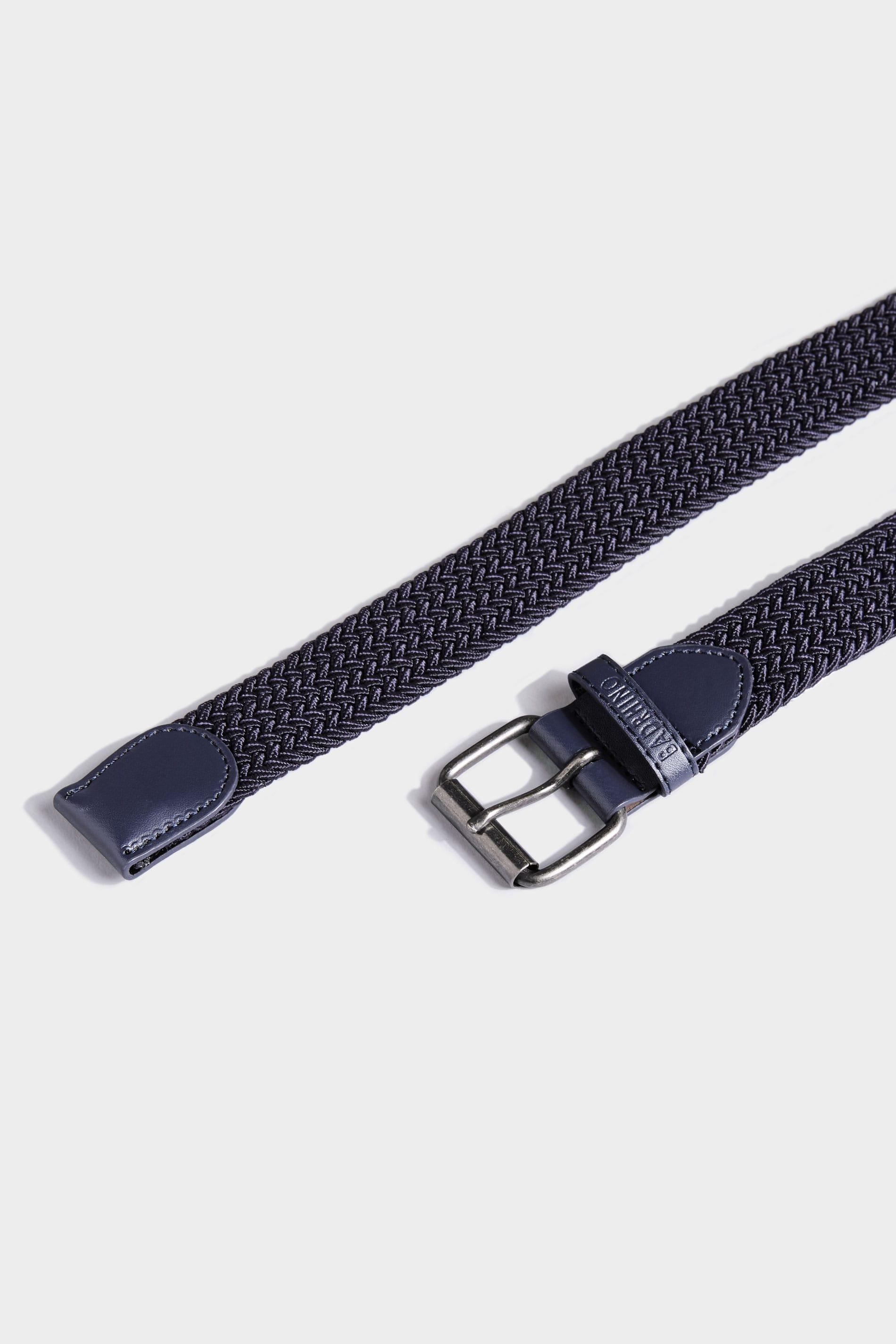 BadRhino Navy Stretch Woven Belt