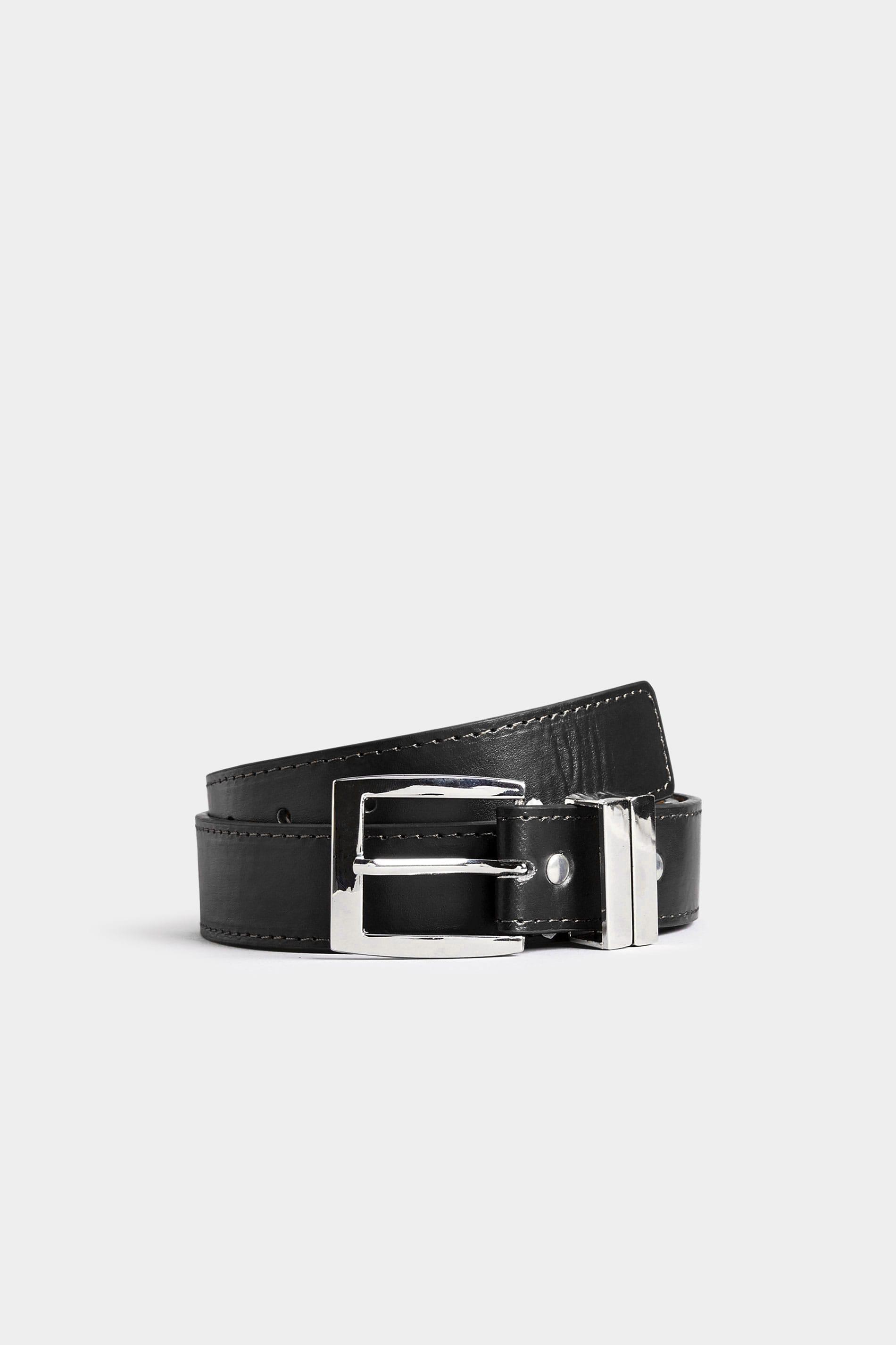 BadRhino Plain Black Bonded Leather Belt