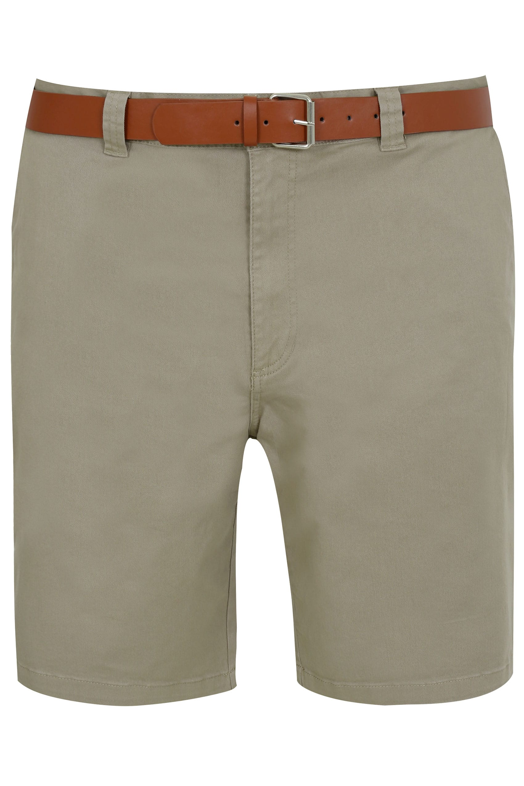 BadRhino Stone Five Pocket Chino Shorts With Belt