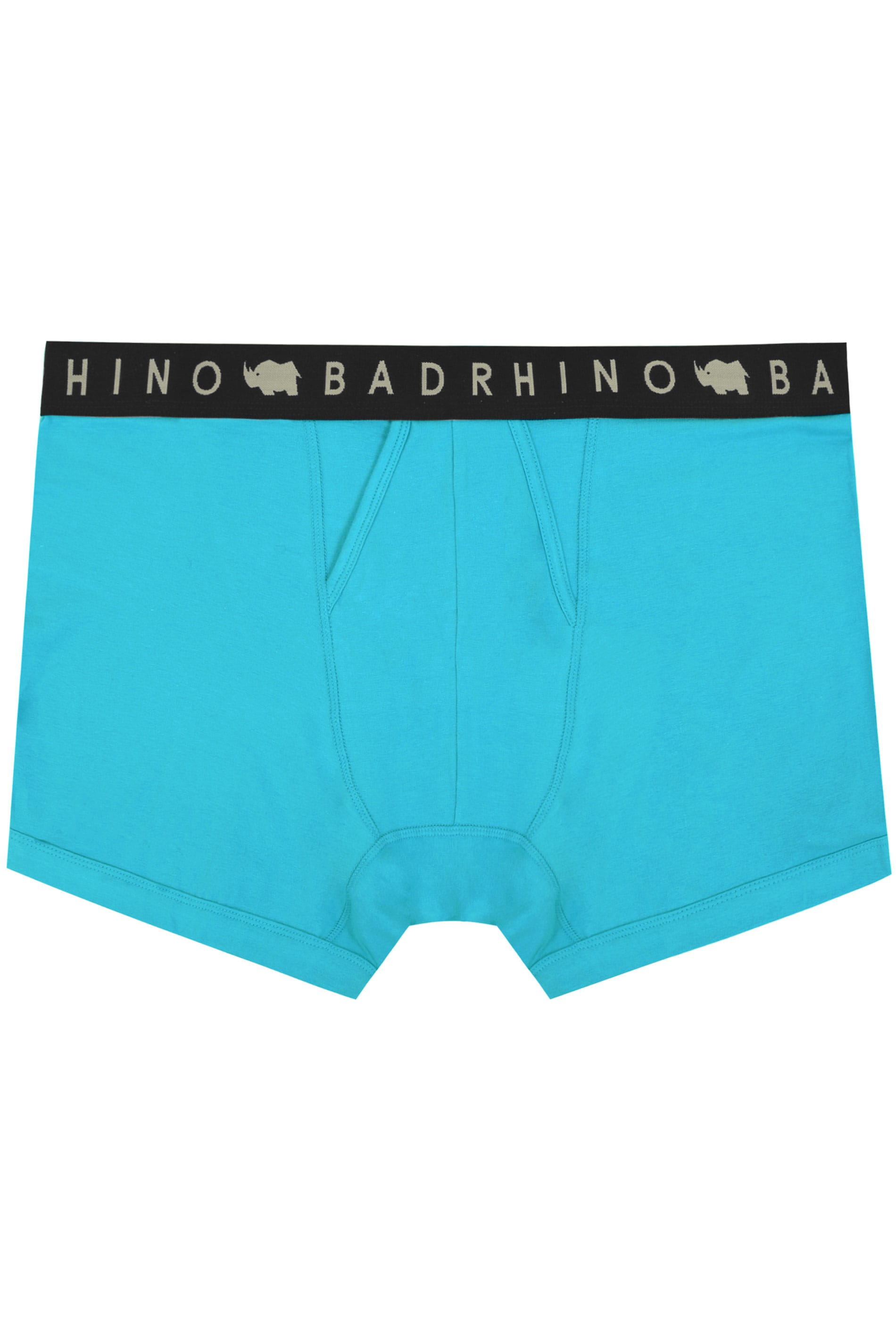 BadRhino Turquoise Elasticated A Front Boxers