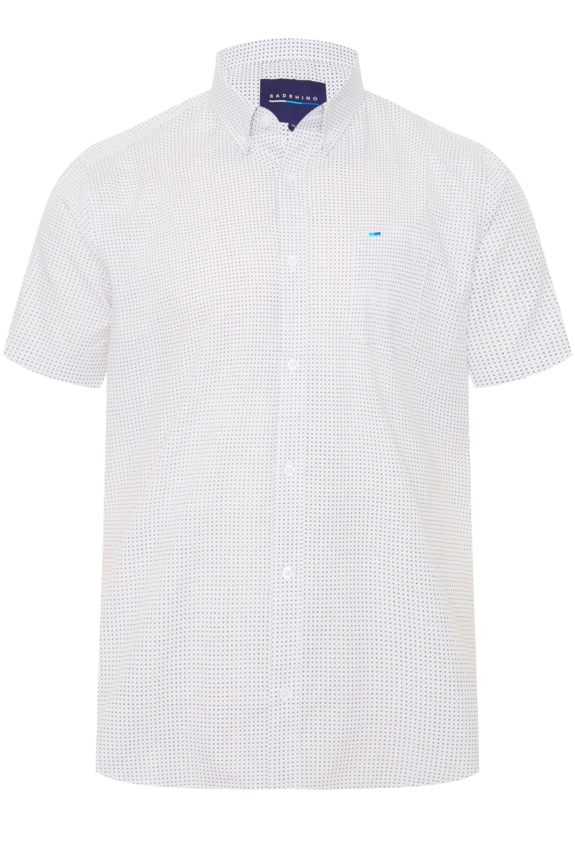 BadRhino White Printed Shirt