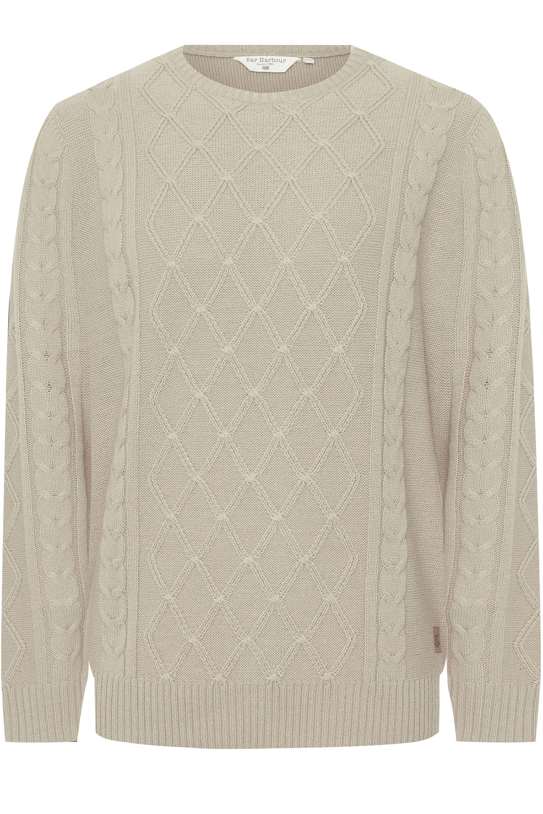 BAR HARBOUR Stone Cable Knit Knitted Jumper