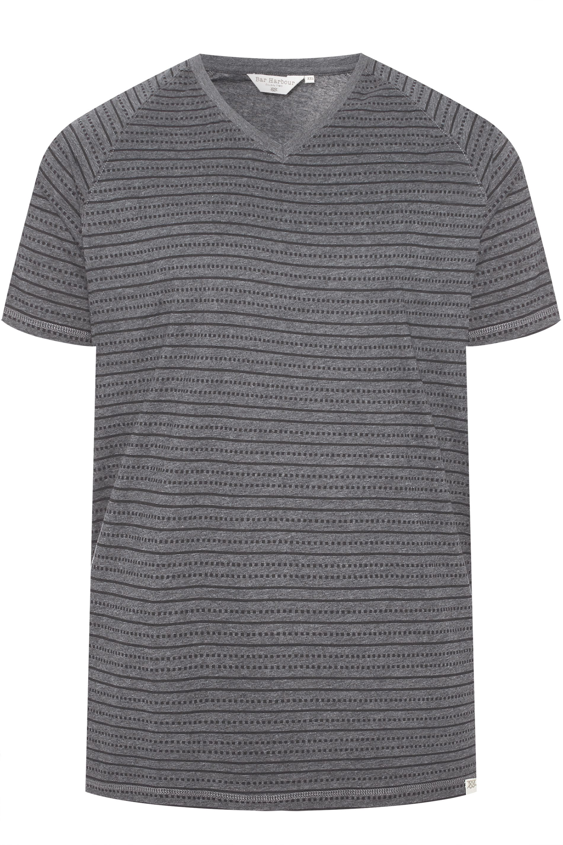 BAR HARBOUR Charcoal Printed T-Shirt