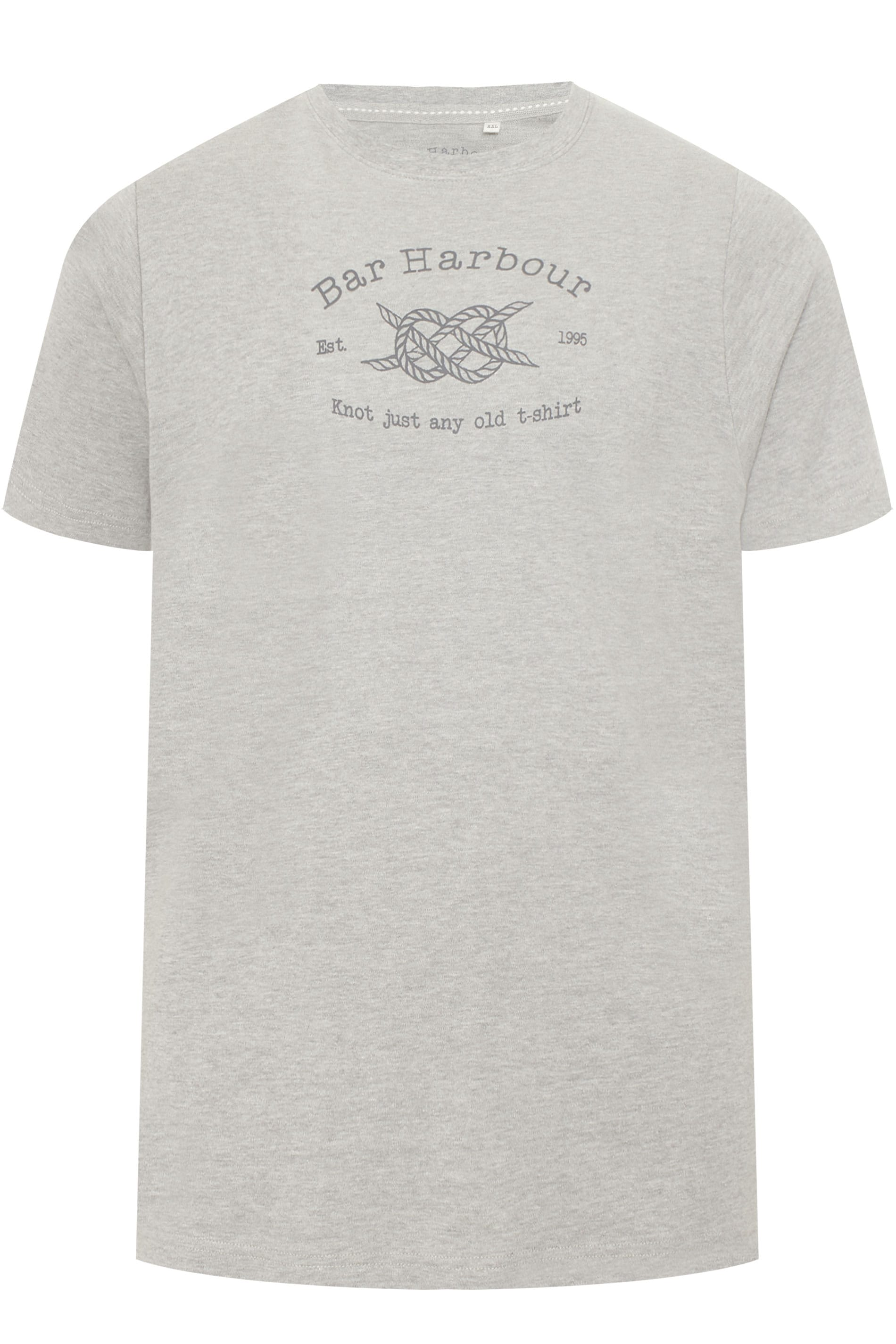BAR HARBOUR Grey Logo Printed T-Shirt
