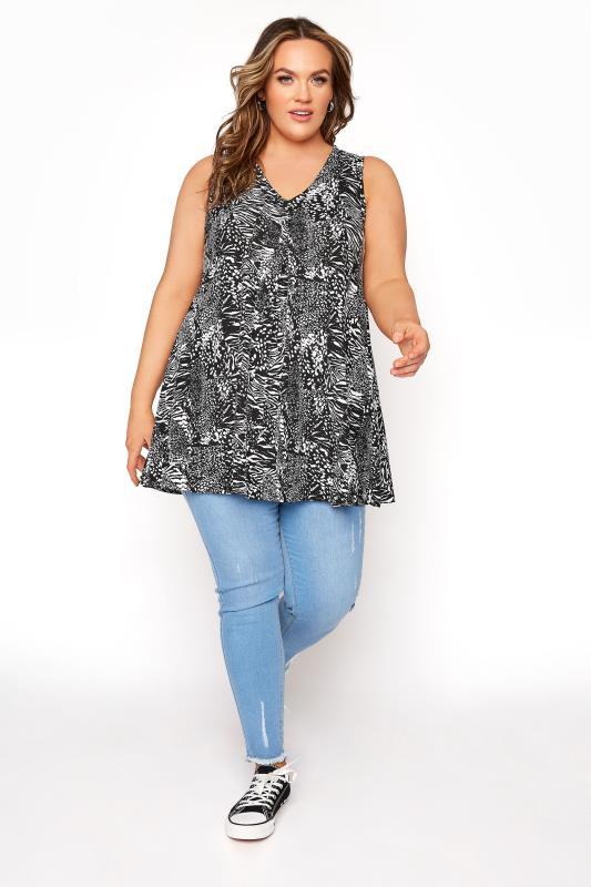 Black Animal Print Swing Vest Top_B.jpg