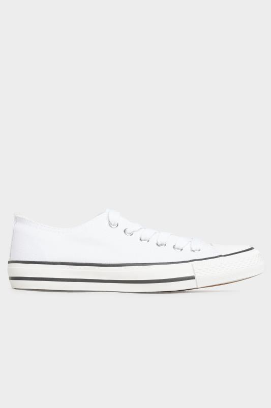 White Canvas Low Trainers In Wide Fit_A.jpg