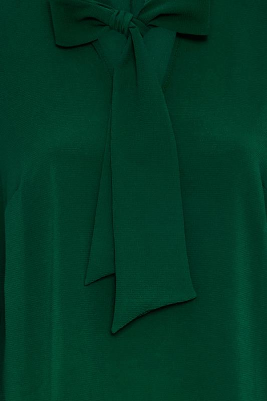 YOURS LONDON Forest Green Bow Blouse_S.jpg