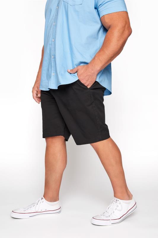 BadRhino Black Stretch Chino Shorts_B.jpg