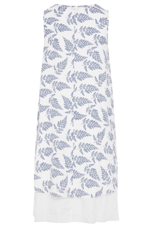 White Leaf Print Double Layer Dress_BK.jpg