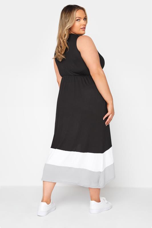 Black Colour Block Plunge Wrap Midaxi Dress_C.jpg