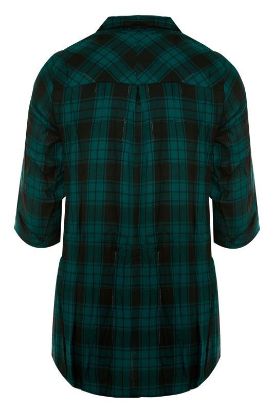 Forest Green Zip Check Shirt_BK.jpg
