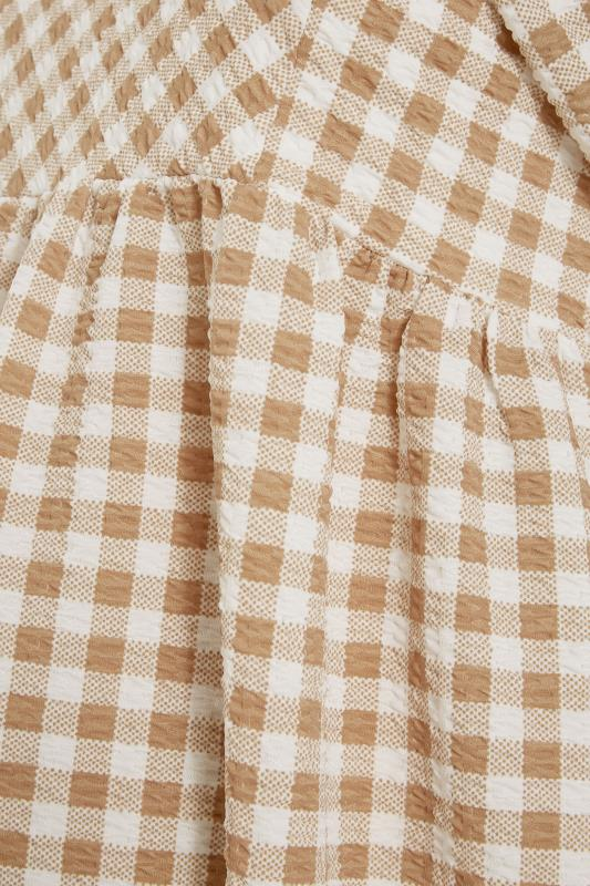 BUMP IT UP MATERNITY Ivory Gingham Square Neck Top_S.jpg