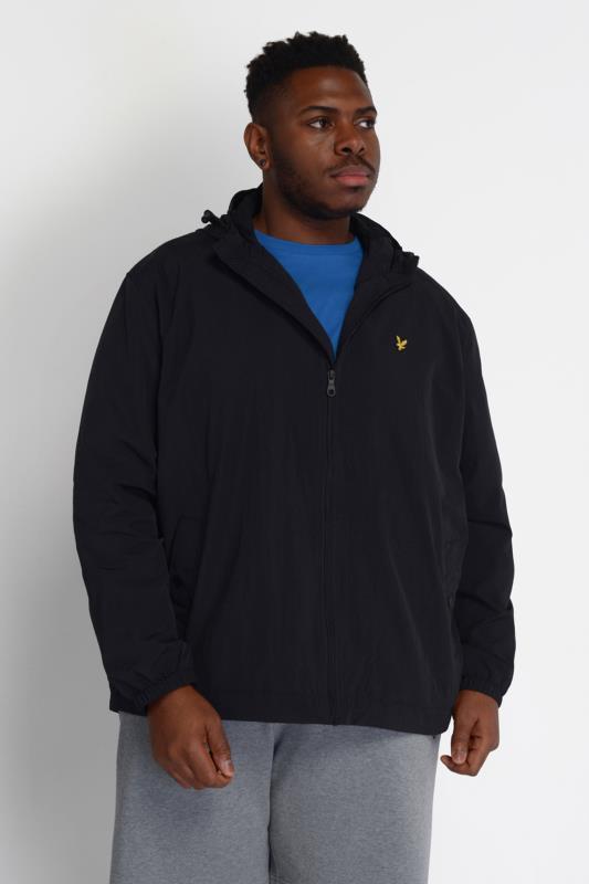 Großen Größen  LYLE & SCOTT Black Zip Through Hooded Jacket