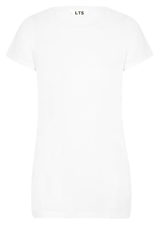 LTS White Soft Touch Grown On Sleeve T-Shirt_f.jpg
