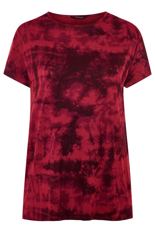 LIMITED COLLECTION Wine Red Tie Dye T-Shirt