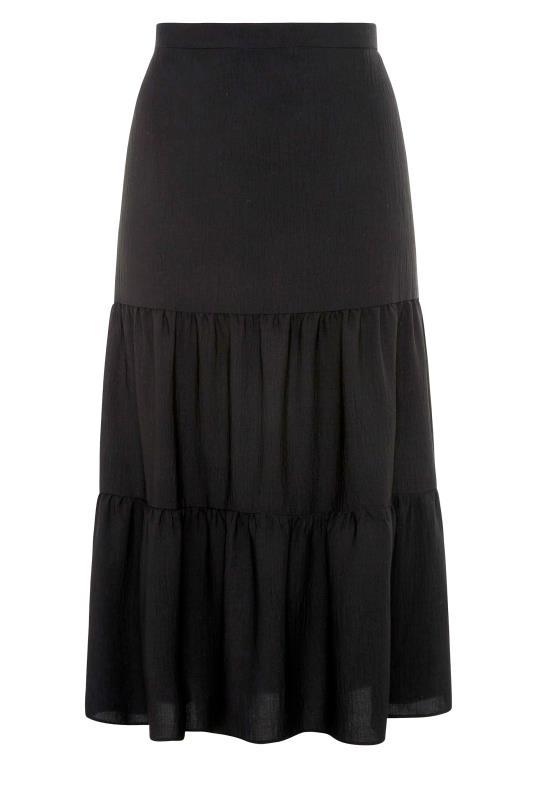 THE LIMITED EDIT Black Tiered Smock Maxi Skirt_F.jpg