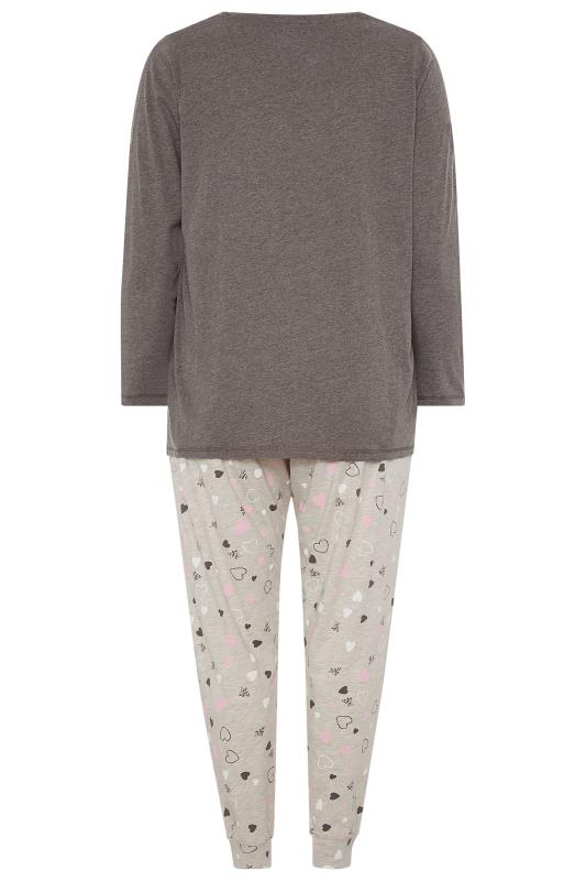 Grey Glitter 'Time To Chill Out' Slogan Pyjama Set