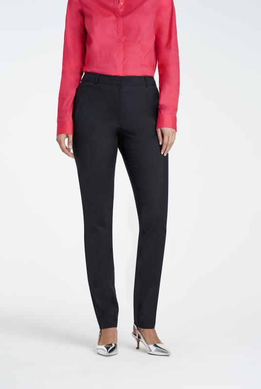 Black Clean Sharp Slim Leg Suit Trouser