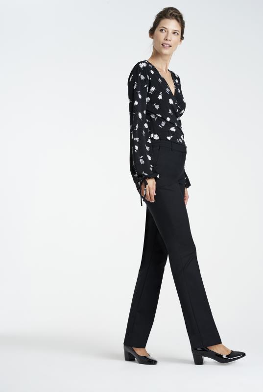 Black Clean Sharp Bootcut Suit Trouser