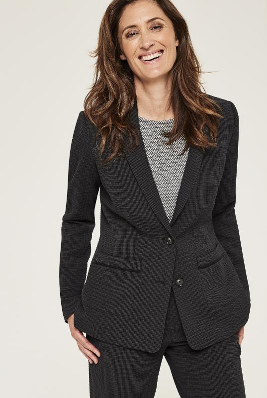 Black Textured Suit Jacket