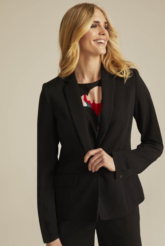 Black Versatile Textured Suit Jacket