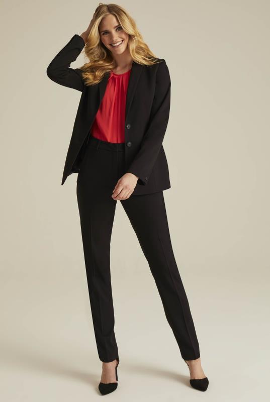 Black Textured Longline Suit Jacket