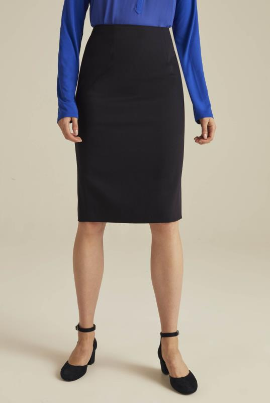 Versatile Textured Suit Pencil Skirt