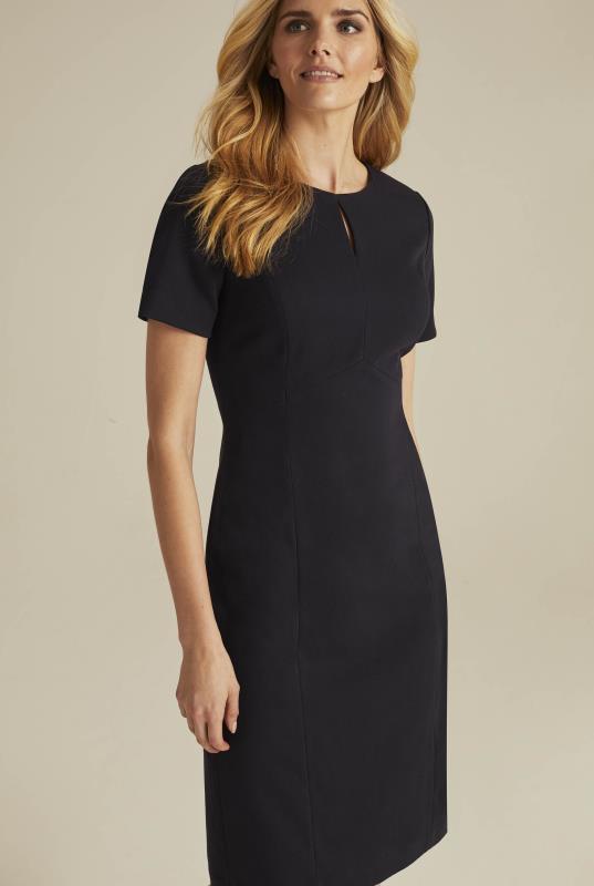 Black Textured Suit Dress