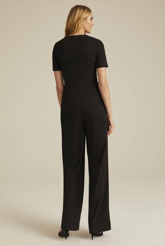 Versatile Textured Suit Jumpsuit