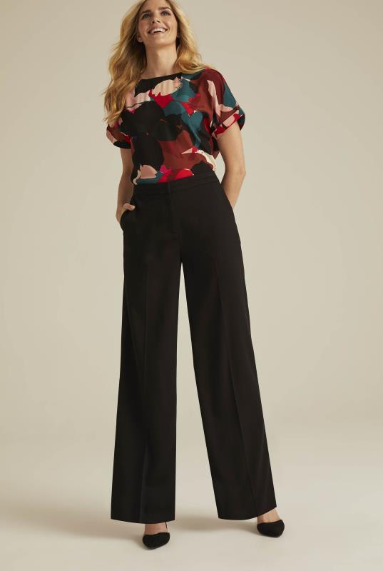 Versatile Textured Suit Wide Leg Trouser