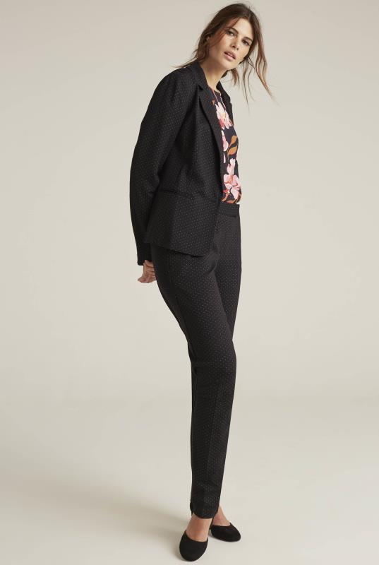 Black Ponte Spot Suit Jacket
